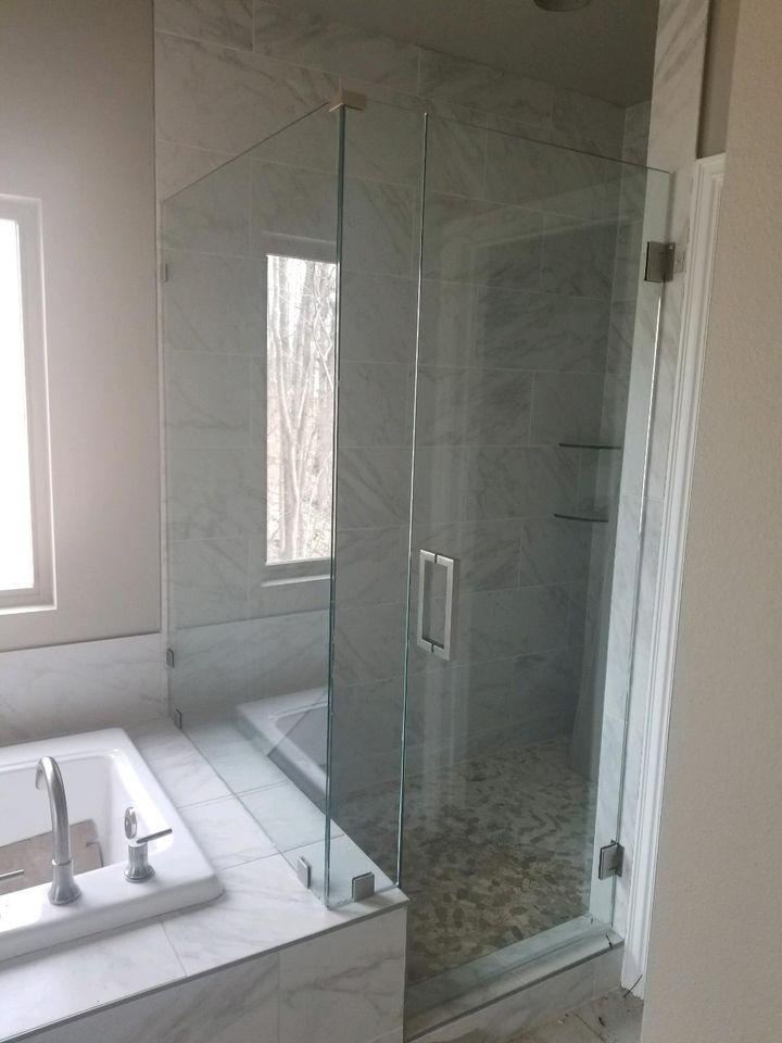Glass Shower Door Installation In Home in Northwest Arkansas