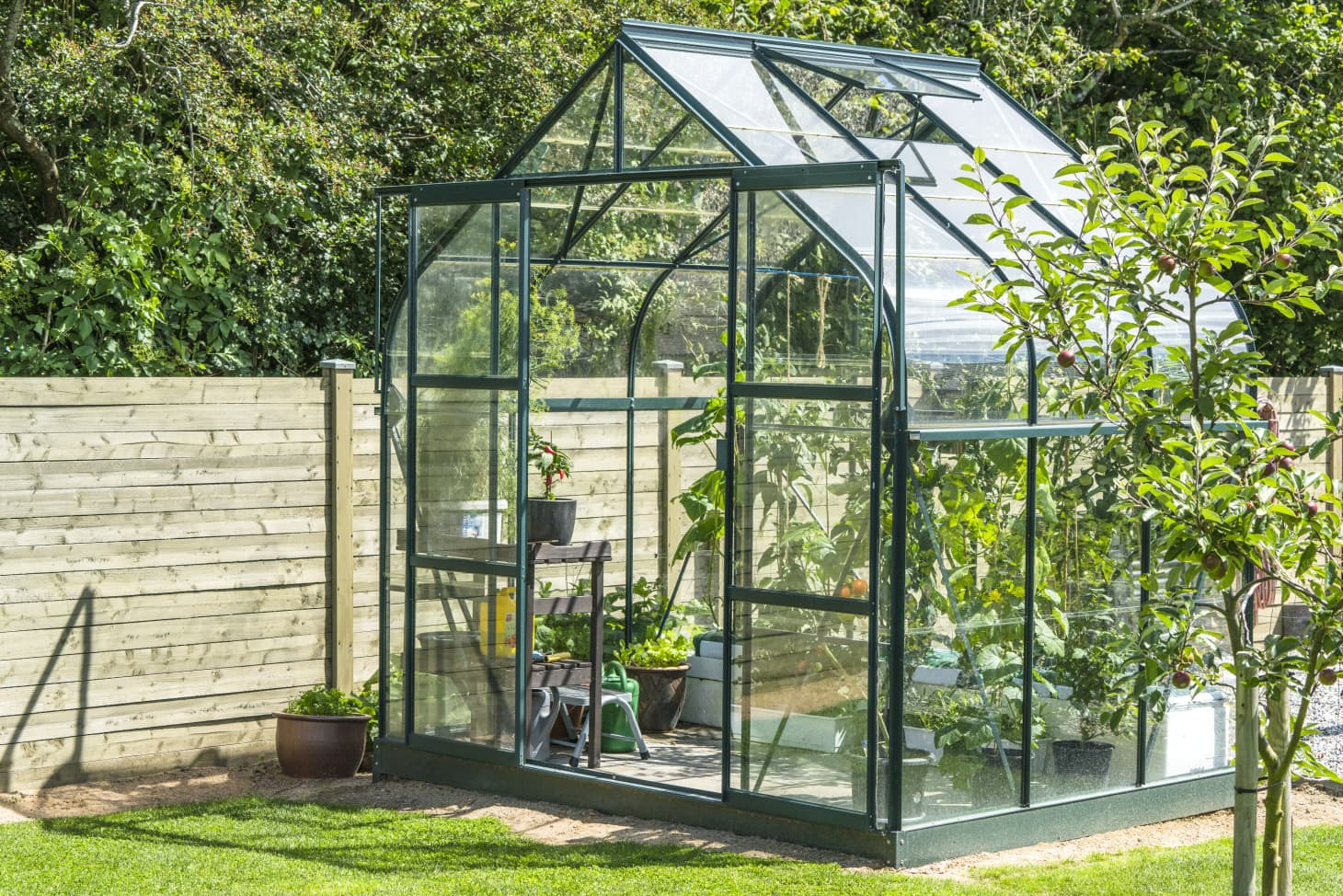 Green House Made of Glass for Custom Glass Projects